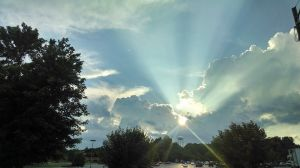 through skies