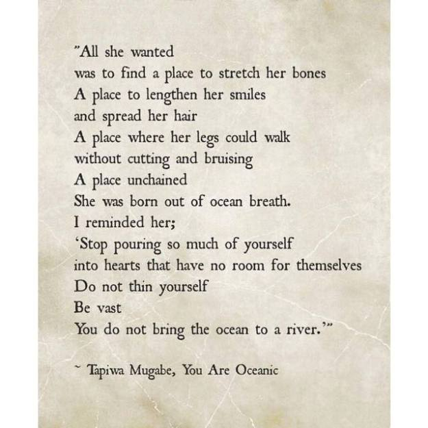 you are an ocean